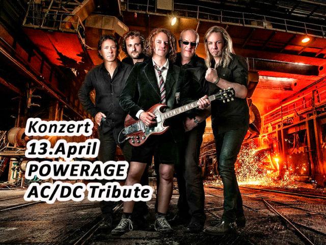 Aktuell: KONZERT 13.04. AC/DC Tribute POWERAGE