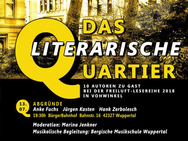 Aktuell: Lesung 13.07. Das Literarische Quartier