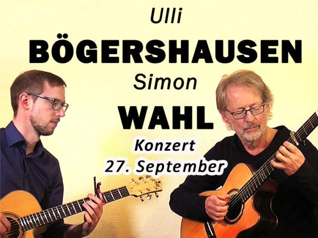 Aktuell: Konzert 27.09. BÖGERSHAUSEN / WAHL