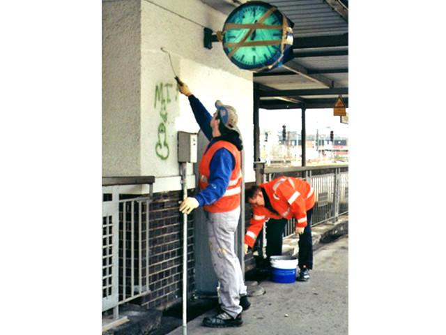 Unser Bahnhof – Beseitigung von Vandalismusschäden