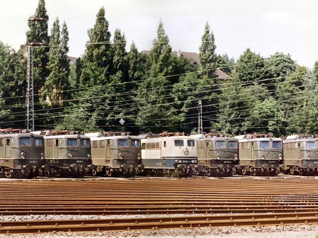 Unser Bahnhof – Betriebswerk  1970er Jahre – Foto Polei