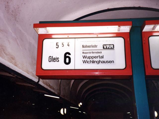 Unser Bahnhof – Rheinische Strecke  1980er Jahre – Foto Schellin
