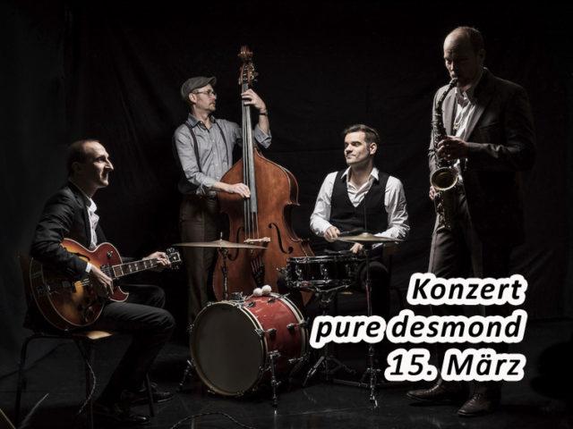 Aktuell: Konzert 15.3. Pure Desmond