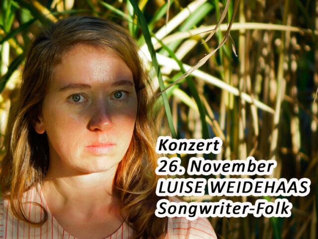 Aktuell: Konzert Luise Weidehaas